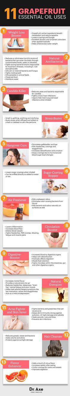 Grapefruit essential oil uses - Dr. Axe http://www.draxe.com #health #holistic #natural #Essentialoilrecipes