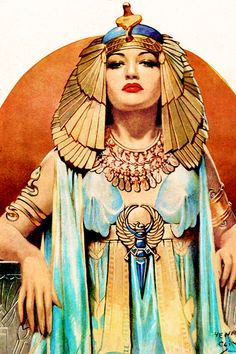 Cleopatra modeled by Dorothy Lamour, by Henry Clive for the cover of American Weekly, Oct. 1946