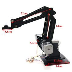Using Arduino to Design 3 Dof Robot Arm for Printer, Writing, and Laser Engraving - Instructables Robotics Projects, Arduino Projects, Electronics Projects, Mechanical Engineering Design, Mechanical Design, Arduino Robot Arm, 3d Printed Robot, Arduino Laser, Arduino Beginner