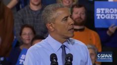 Obama electrifies crowd with 'Fired up, ready to go' anecdote