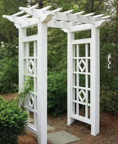 Custom Arbor with Diamond Side Panels | Wood Arbors and Solid Cellular PVC Arbors from Walpole Woodworkers