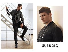 Official website of the menswear and footwear designer brand Susudio. Discover the latest jackets and sneakers and be inspired by a unique urban couture style. Ss 17, Mens Fall, Couture Fashion, Branding Design, Menswear, Leather Jacket, Collections, Check, Jackets