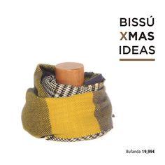 #bissuxmas IDEA 3 - Bufanda de lana B&W combinada con tonos azules y amarillos. Perfecta para dar una nota de color a los outfits de invierno. Consíguela por tan solo 19,99€.  #navidad #christmas #regalos #gifts #presents #specialprice #bufanda #lana #amarillo #inspiracion #inspiration #estilo #style #outfit #look #newin #newseason #nuevacoleccion #invierno #cold #winter #musthave #tendencias #trendy #bissubags #bissuxmas #irresistible #instapic #instadaily #outfitoftheday