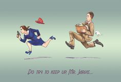 Try to keep up Peggy and Jarvis fanart by a-fiendish-thingy