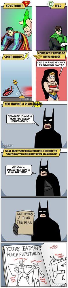 The 5 Greatest Weaknesses of DC Superheroes just remember bat fan's he's batman not batgod
