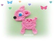 ♥ REH rosa ♥ Bambi Rehkitz Rehlein
