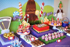 Wonka Party. LOVE the scale and golden eggs!