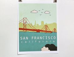 San Francisco skyline art - perfect for a kid's room (or any room, really!)