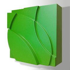 Delsy Rubio | Wind Blowing | 20 x 20 x 8 cm | Acrílico/madera | 2015