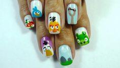 Nail Art - Angry Birds