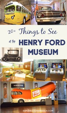 The Henry Ford Museum mind! Rosa Parks bus, Weinermobile, Ford Model T, Abraham Lincoln's death chair, presidential cars. Dearborn Michigan, Detroit Michigan, Lake Michigan, Travel With Kids, Family Travel, Family Vacations, Rosa Parks Bus, Visit Detroit, Aviation Careers