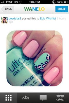 Pretty pink and blue nails! #pretty #nails #manicure  Free Nail Technician Information!!!!!!!!  http://www.nailtechsuccess.com/nail-technicians-secrets/?hop=megairmone
