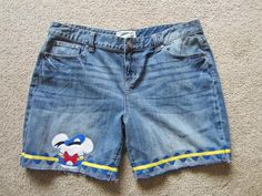 Donald Duck inspired shorts  www.facebook.com/serendipidboutique