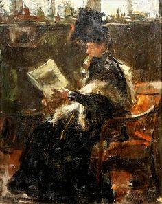 Robert Archibald Graafland - Study of lady waiting in studio, 1895 - Netherland