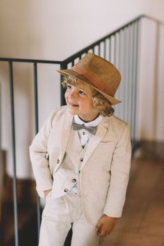 Adorable ring bearer style: http://www.stylemepretty.com/destination-weddings/italy-weddings/2016/01/25/vintage-inspired-tuscan-villa-wedding/ | Photography: FunkyBird - http://funkybirdphotography.com/