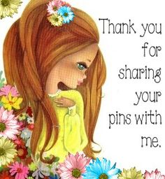 Thank you all so much for sharing your pins...Love them when I actually get to see them as Pinterest very seldom lets me see the pins from boards I followed.