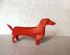 Origami dachshund @Poppy Treffry #bedachshing