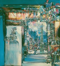 Studio per teatro di posa 5 1983 Tempera e pastello su tela 100X100 cm