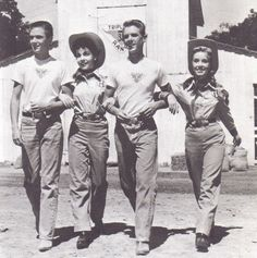 A cute publicity shot with Annette, Tim Considine, David Stollery and fellow Mouseketeer Darlene Gillespie.