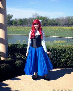 Shipwreck ariel and prince eric halloween costume diy pinterest glitzy geek girl tutorial the little mermaid ariel cosplay diy ariel costumeariel solutioingenieria Image collections