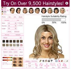 hair styles on your face virtual