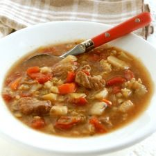 Beef & Barley Vegetable Soup - This hearty soup includes lots of your favorite winter vegetables, tender beef and pearl barley.