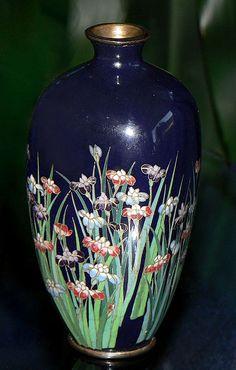 Japanese Cloisonne Enamel Cabinet Vase. 4 plus inches