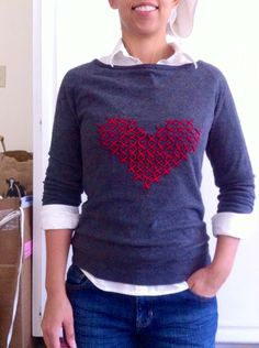 How to Create a Custom Cross-Stitch Sweater (perfect for a fashion design class)