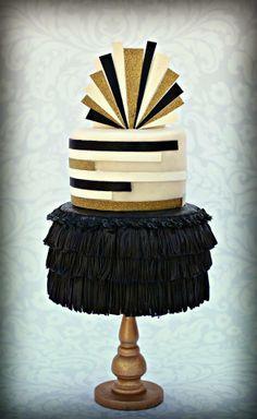 Great Gatsby Art Deco themed cake www.facebook.com/i.love.cuteology.cakes