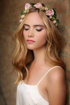 natural shades of pink. Bridal makeup inspiration by Kristina Gasperas, award winning makeup artist - London. Hair by Kasia