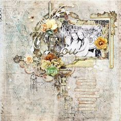 Layout by Trudi Harrison #primaguestdesigner #prima #primamarketing #primaflowers