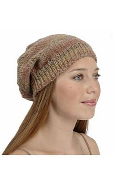 Free pattern, Slouchy Hat, knit in Plymouth Encore. Yarn here: http://metaphoryarns.com/category/Encore-Worsted/ECWR/page1