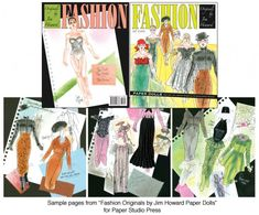 Fashion Originals by Jim Howard, Vol. 1 [Fantastic high fashions] : Paper Dolls of Classic Stars, Vintage Fashion and Nostalgic Characters, for Kids and Collectors Victorian Paper Dolls, Vintage Paper Dolls, Barbie Paper Dolls, Paper Dolls Book, Happy Birthday Jenny, Barbie Fashion Sketches, Literary Characters, Coloring Books, Vintage Fashion