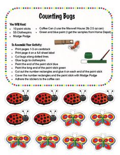 Classroom Freebies Too: Counting Bugs!