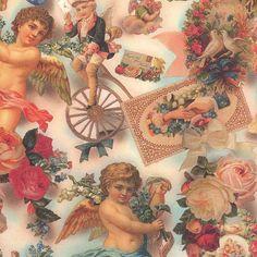 Vintage Angel Collage Italian Paper ~ Kartos Italy