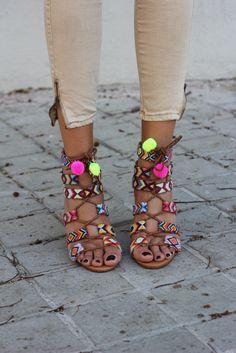 Aztec summer sandals