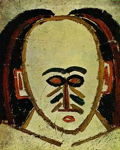 Head Of A Man 1907  Pablo Picasso