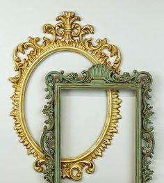Upcycle Plastic Ornate Frames using Americana Decor Chalky Finish Paint