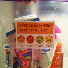 Survival kits for welcome bags