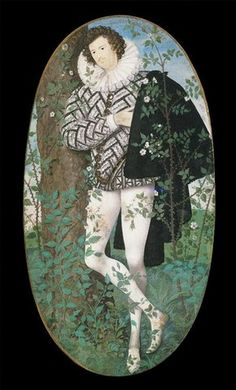 Nicholas Hilliard, Young man among roses, 1585-95. Bequeathed by George Salting.