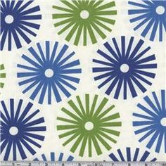 Graphic blue and green print fabric