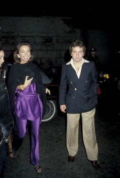 Lee Radziwill w/ son Anthony, at the 21st ...