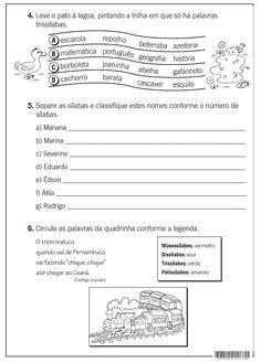 SOS PROFESSOR-ATIVIDADES: Número de sílabas