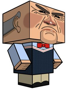 Jeff Dunham's puppet Walter Now you can make your own paper toy puppet as a cubeecraft