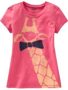 Girls Animal Graphic Tees