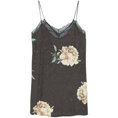Velvet Dress (€35) ❤ liked on Polyvore featuring dresses, tops, lace trim dress, flower pattern dress, v neck cocktail dress, v-neck dresses and velvet dress