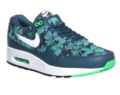 Hot Sale Shoes Nike Air Max 1 Space Blue White Jade 493001