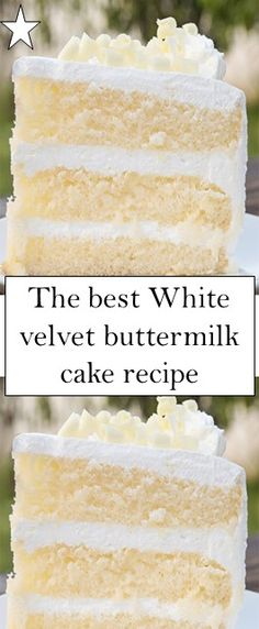 The best White velvet buttermilk cake recipe recipes backen backen rezepte bread bread bread Cookie Desserts, Just Desserts, Delicious Desserts, Baking Recipes, Cake Recipes, Dessert Recipes, Bread Recipes, Vegan Recipes, Buttermilk Cake Recipe