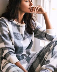 Super-soft, knit-look, cosy PJ's  It's what winter mornings are made for!