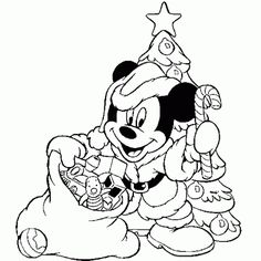 Disney Christmas Coloring Pages Mickey